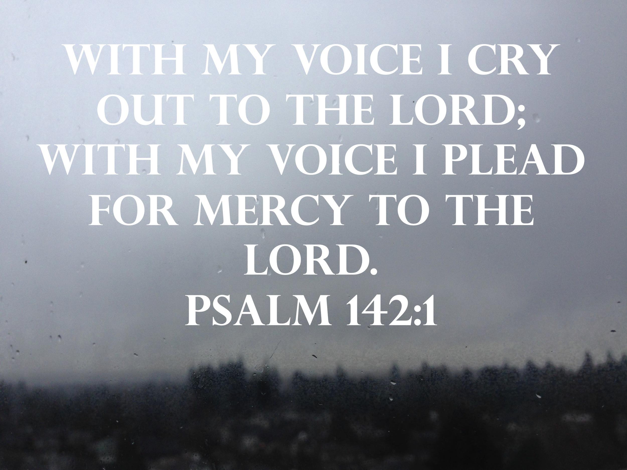 Psalm 142 via nadinewouldsay