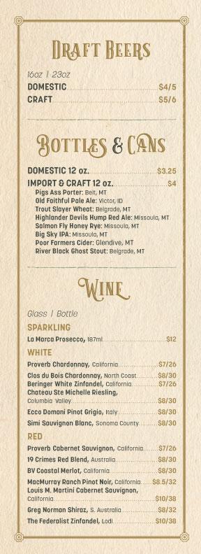 yellowstone_mine_wine_beer_menu