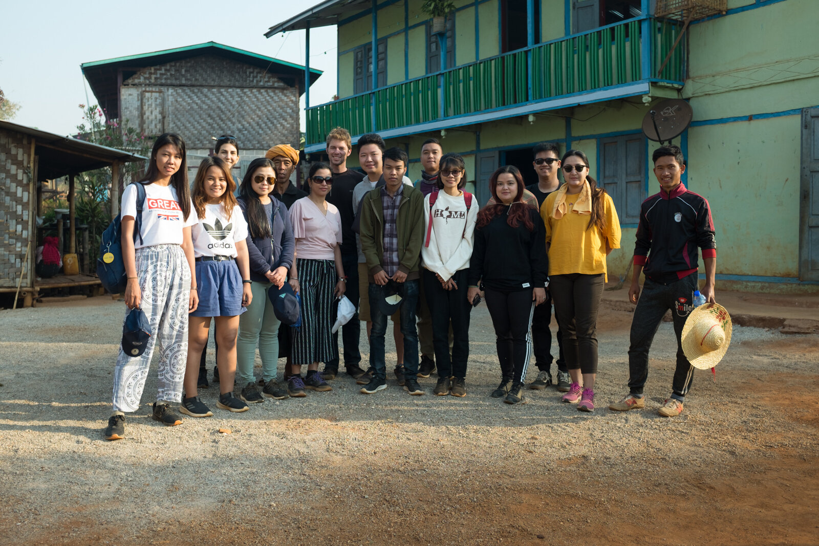 Part of our team, bright and early, during a team trip to Shan State, March 2019.