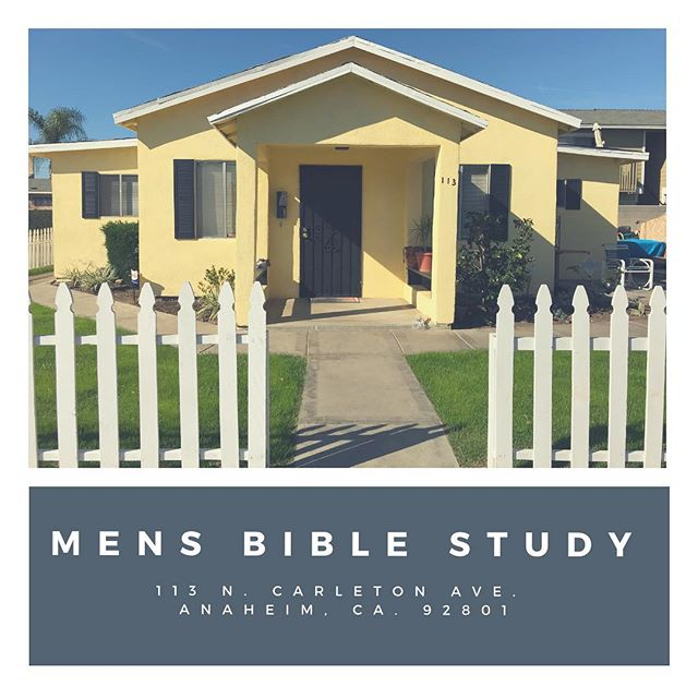 Good morning church! Don't forget about Men's Bible Study tonight at 7pm! You don't want to miss it.