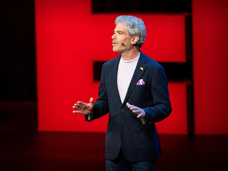 Jason B. Rosenthal on the TED Stage ( JASON REDMOND  /  JASON REDMOND / TED)