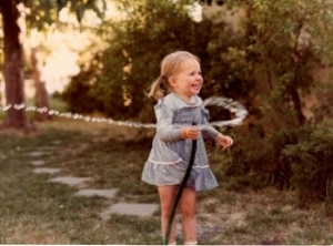 Daylight and happiness at the age of two; the fears only came with the dark.