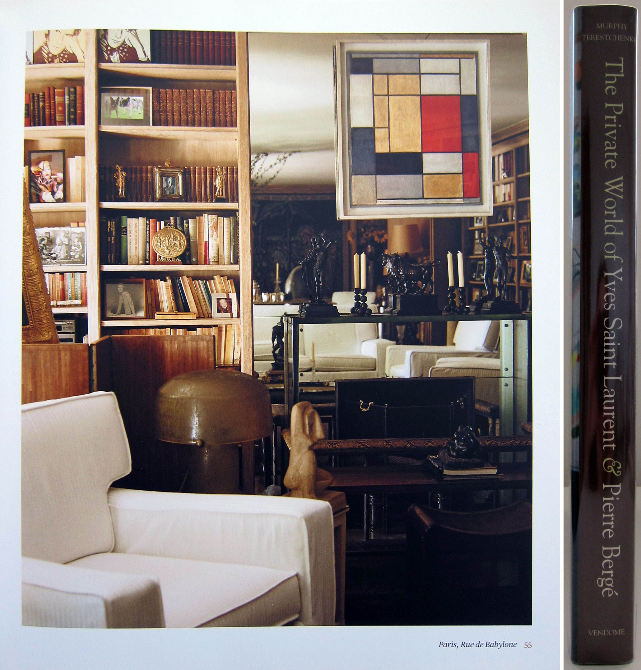 6ffe40fcaa5 A beautiful book, The Private World of Yves Saint Laurent & Pierre Berge  published by Vendome Press. Truly an artist and master curator of all fine  things.