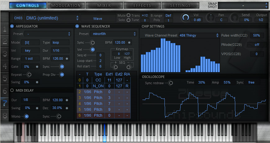 chipsounds audio plugin by Plogue