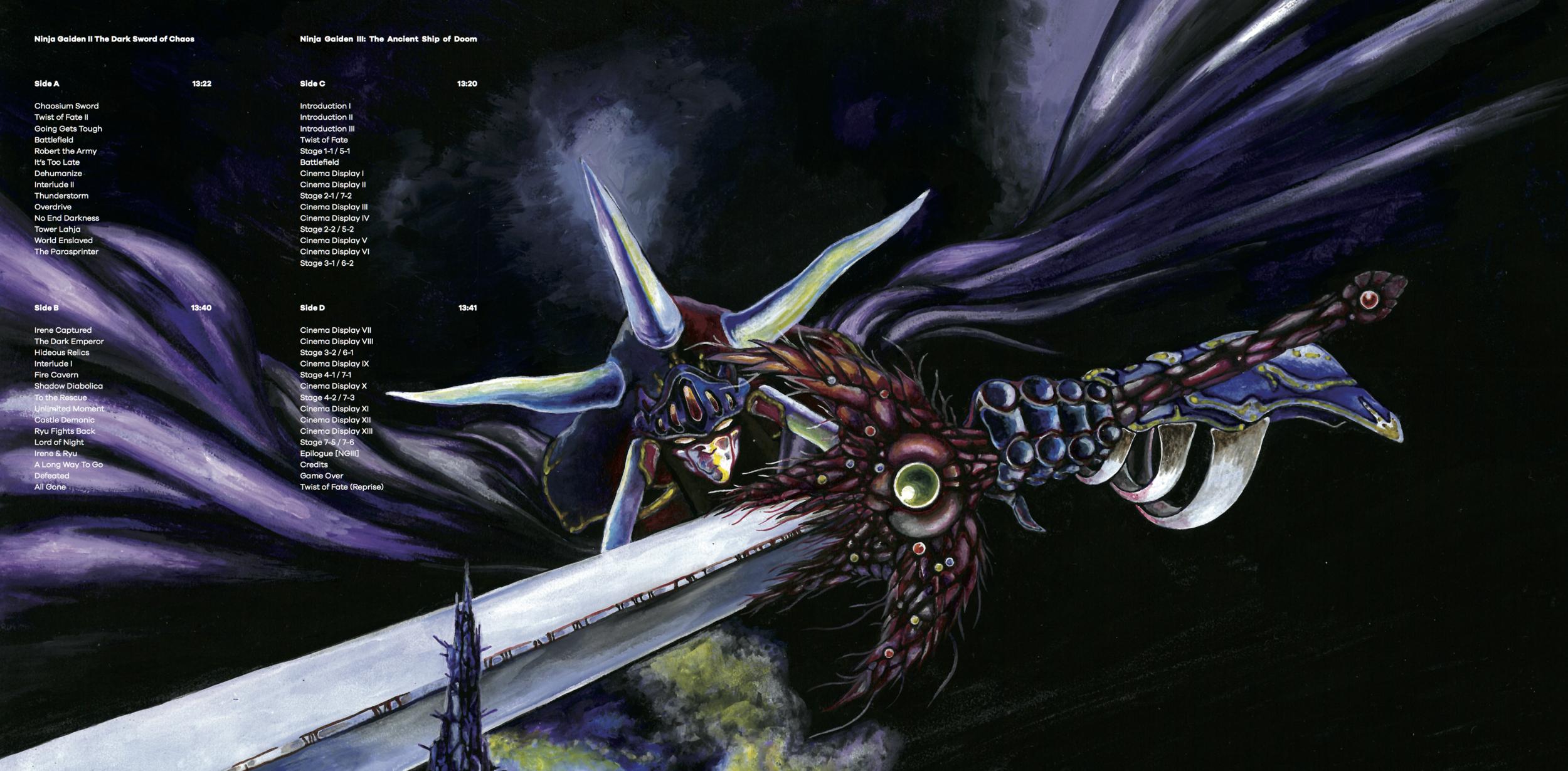 Inner Gatefold for Ninja Gaiden The Definitive Soundtrack Vol. 2.