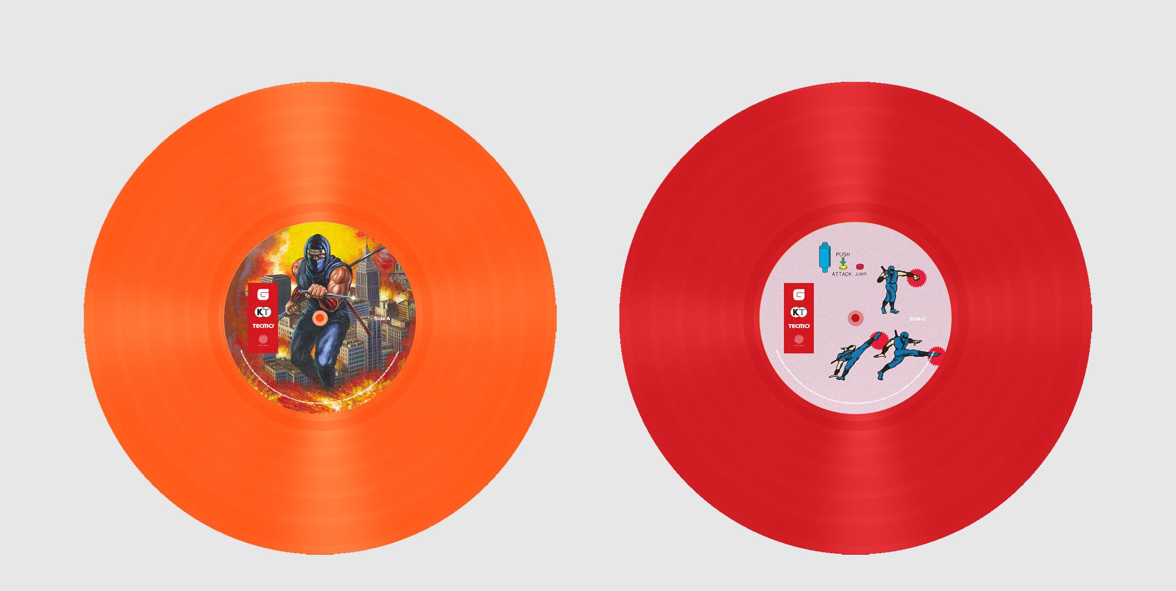 Ninja Gaiden The Definitive Soundtrack Vol. 1 Colored Vinyl and Label Designs