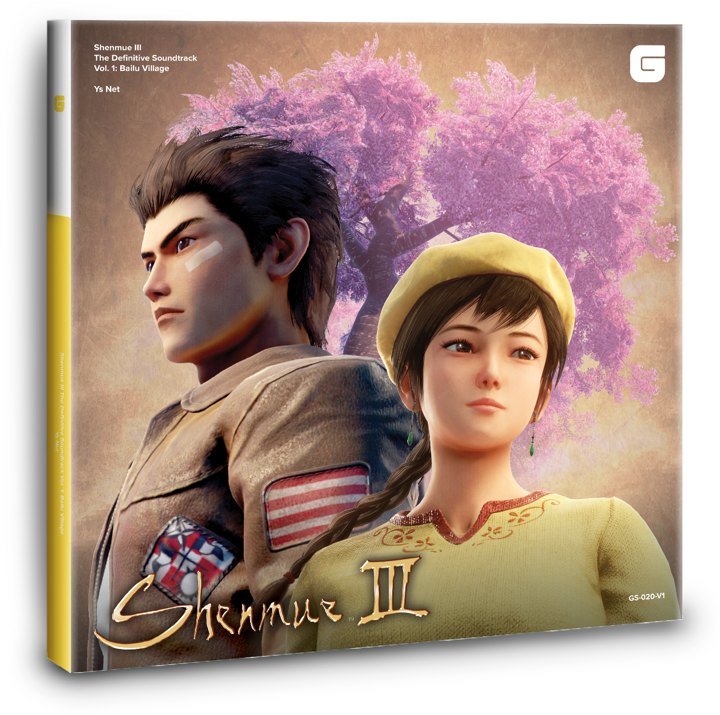 Shenmue III The Definitive Soundtrack Vol. 1: Bailu Village (GS-020-V1) Mockup. Artwork is not final and subject to change.