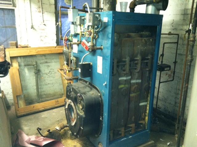 Before: taking existing boiler apart