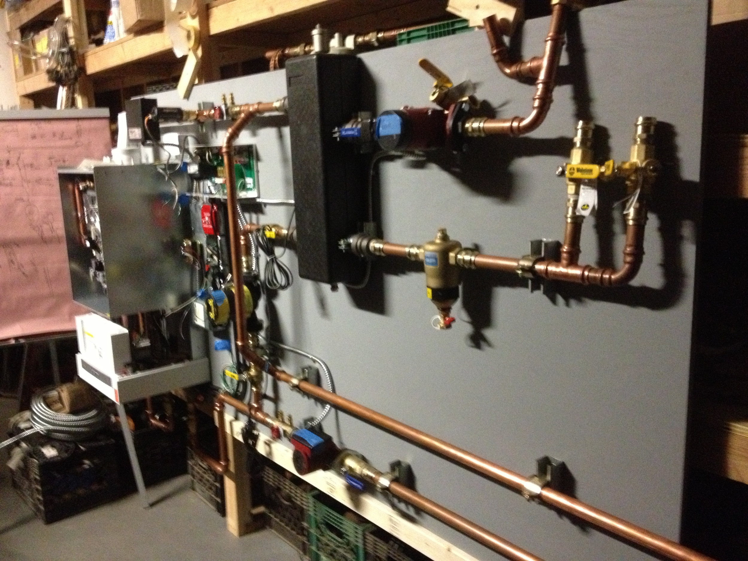 Building the boiler in our office