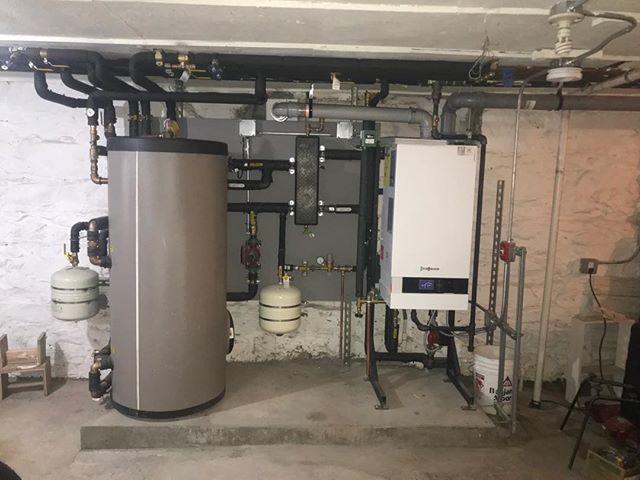 Recent @viessmann_us installation in Brooklyn brownstone. #viessmann #heatinginnyc #absolutemechanicalcoinc #hydronicheating