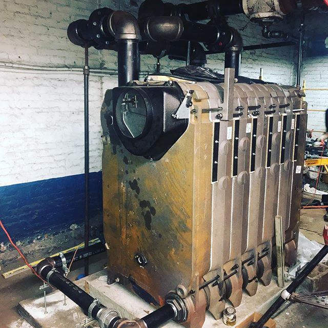 Steam oil to gas in Chelsea continues. #steam #oiltogas #heatinginny #absolutemechanicalcoinc #steamboilers