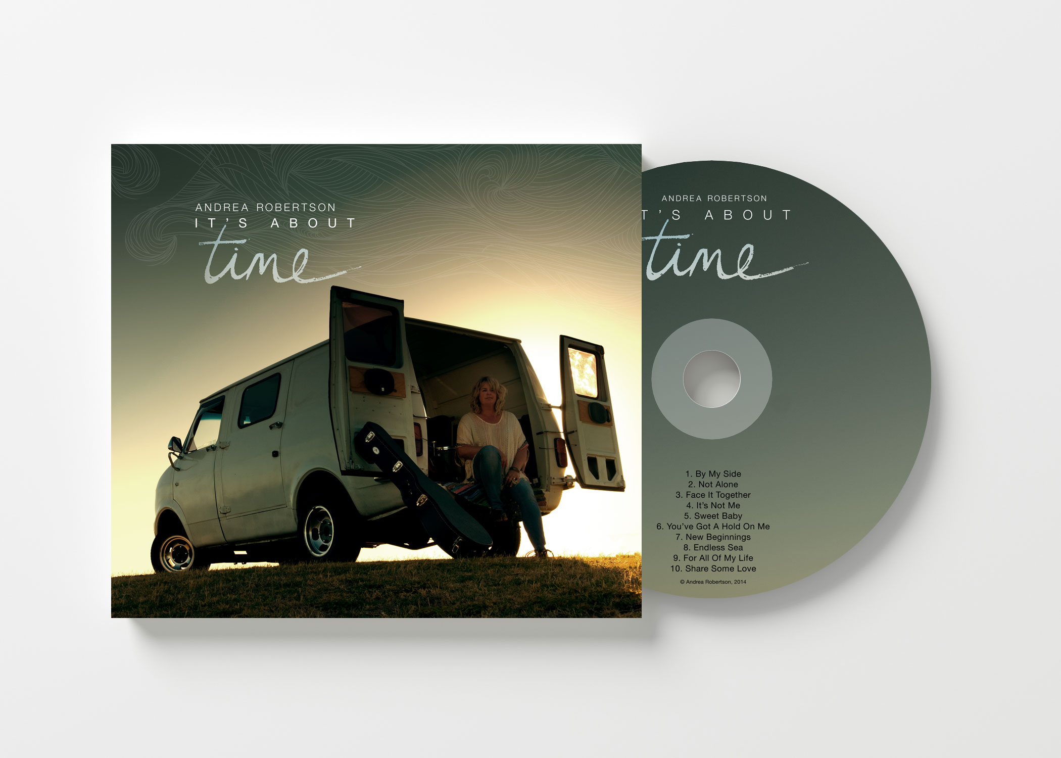 It's About Time    CD $20.00   The soulful debut independent release album from singer/songwriter Andrea Robertson. Featuring 10 original tracks that make this CD a well-balanced blend of rocky, toe-tapping numbers matched with heart-warming ballads and tunes that make you want to sing along - an album well worth adding to your collection.   Now available as a Digital Download for only $14.99 via CD Baby - just click on the link below and we'll take you there.....     http://cdbaby.com/cd/andrearobertson
