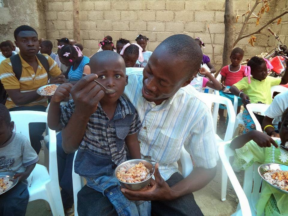 Schera has made it his life's mission to make sure the children in his community of Cerca Carvajal Haiti are fed a nutritious meal at least once a day.