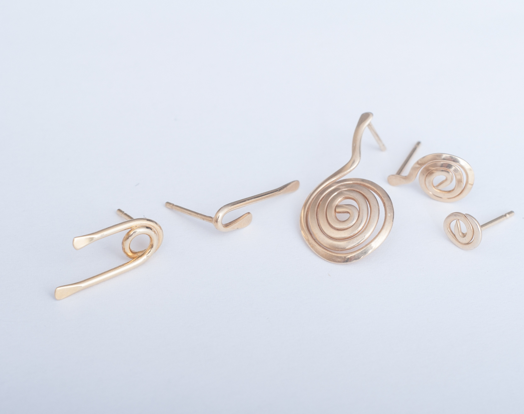 LINE COLLECTION - The Lines are a series of simple, elegant earrings that are made solely from certified Fairmined Silver and Gold. Transparent sourcing and ethical luxury for everyday wear.