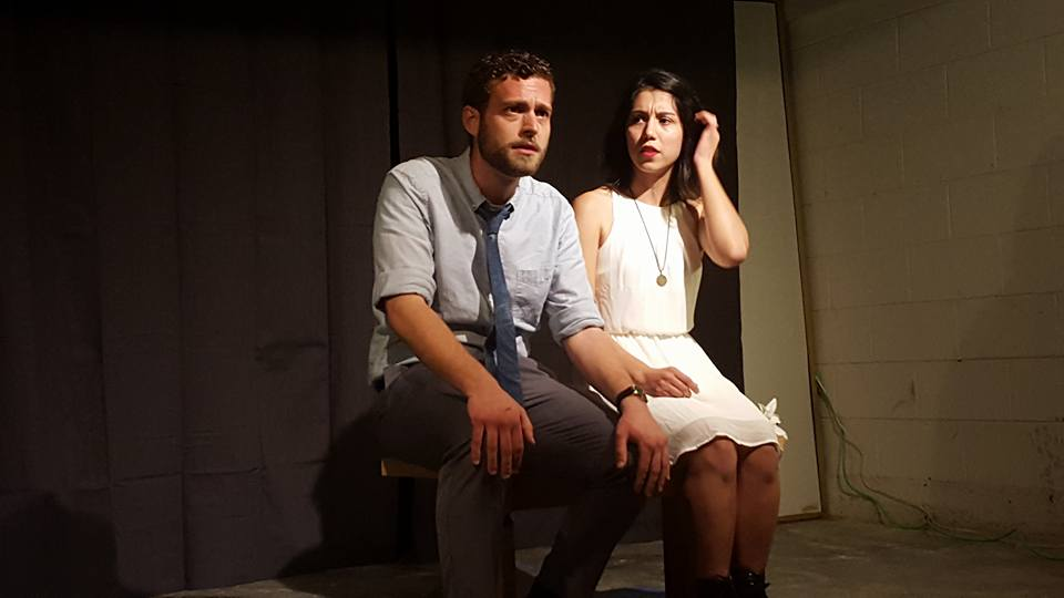 Jacob Gowing and Suzie Pontillo in Manta Rays by Megan Markham. Performed at our March 2016 Ten Minute Tuesday.