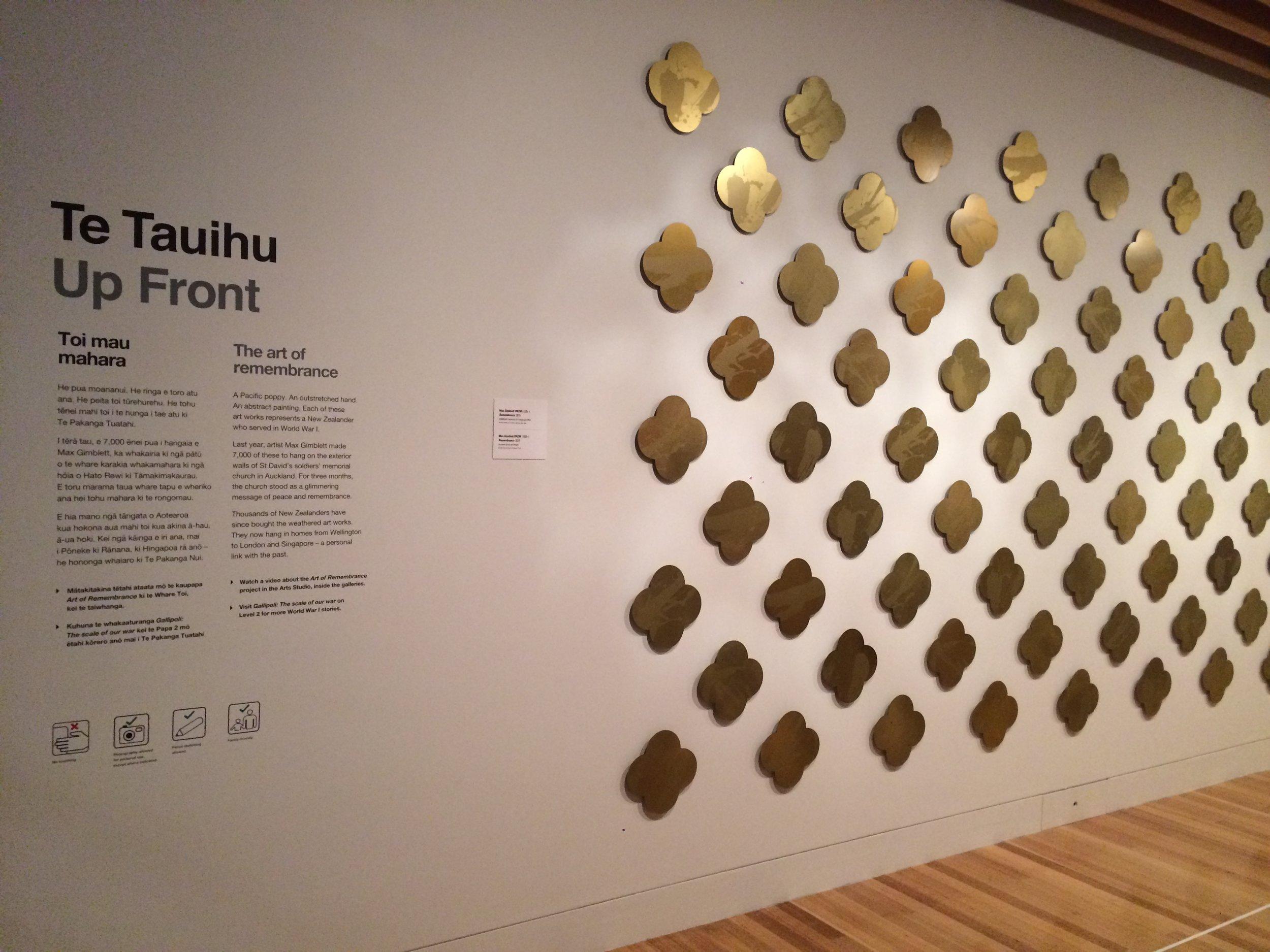 Te Papa Tongarewa installation  Photography by Michael Hall