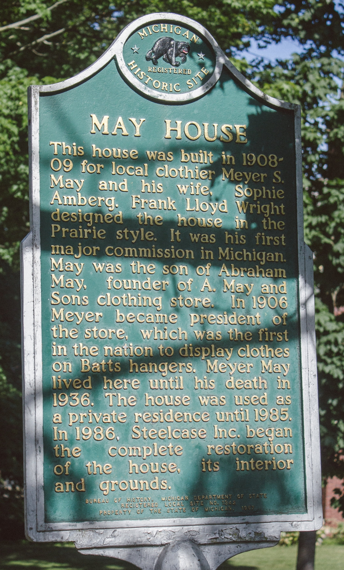 May House sign
