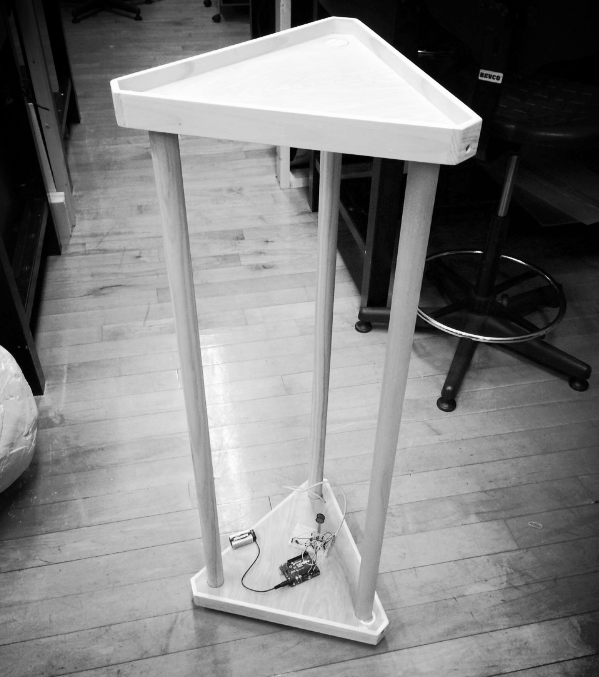 cocktail table. there may be some arduino and pressure sensors and gearmotors going on underneath