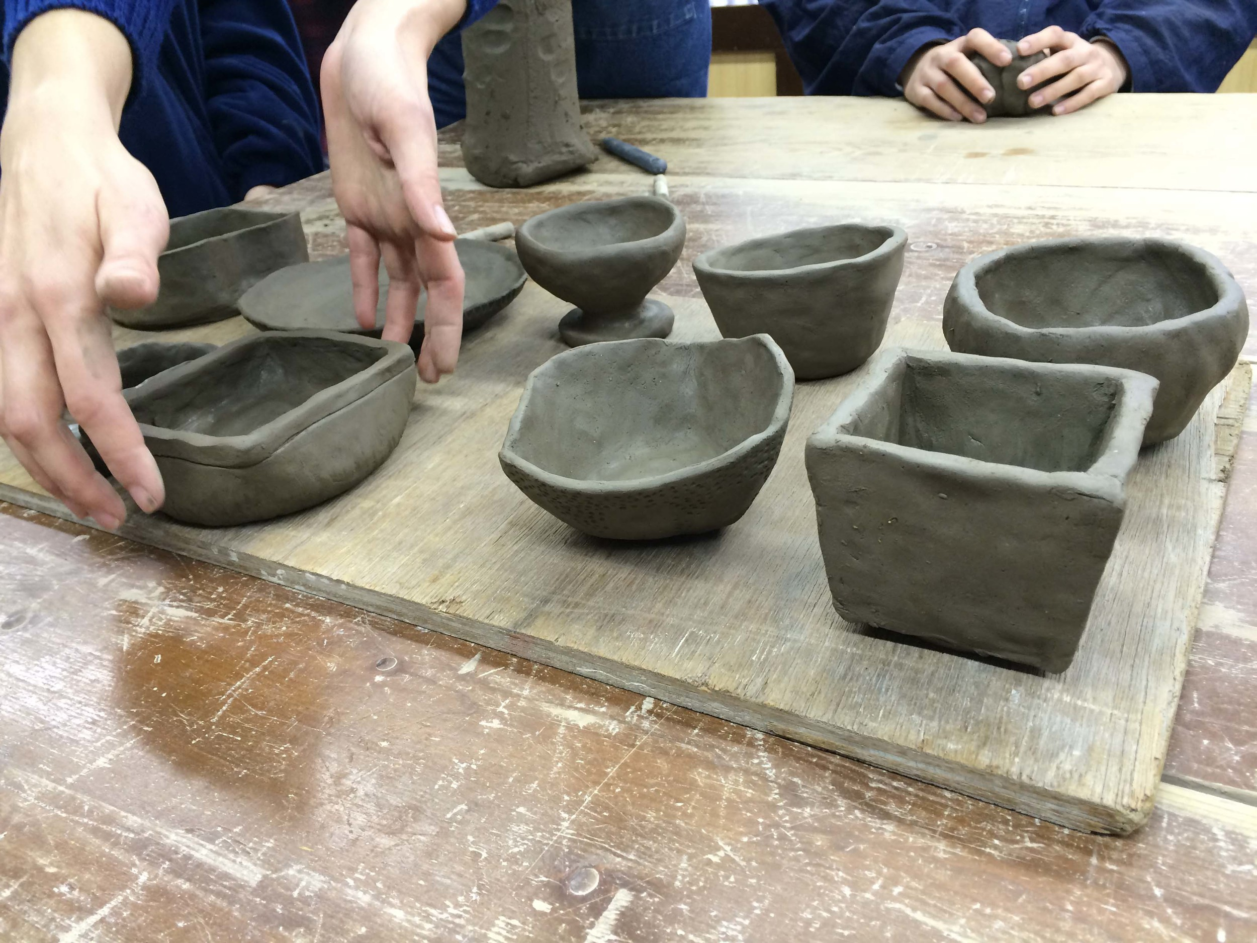 pinched pots