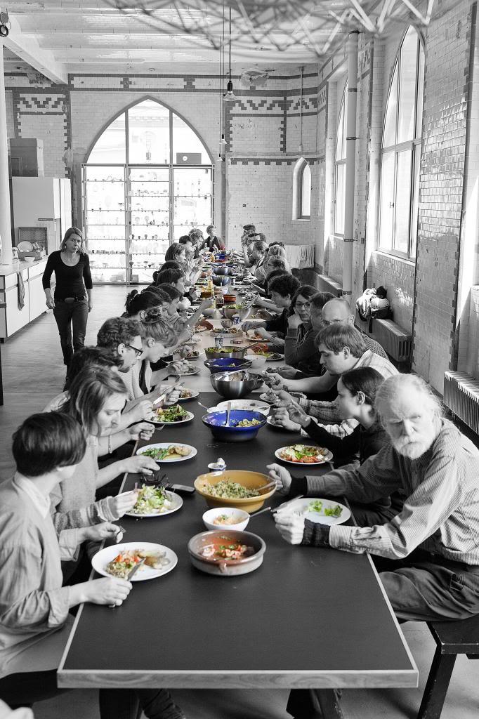 Lunch break at Studio Olafur Eliasson.