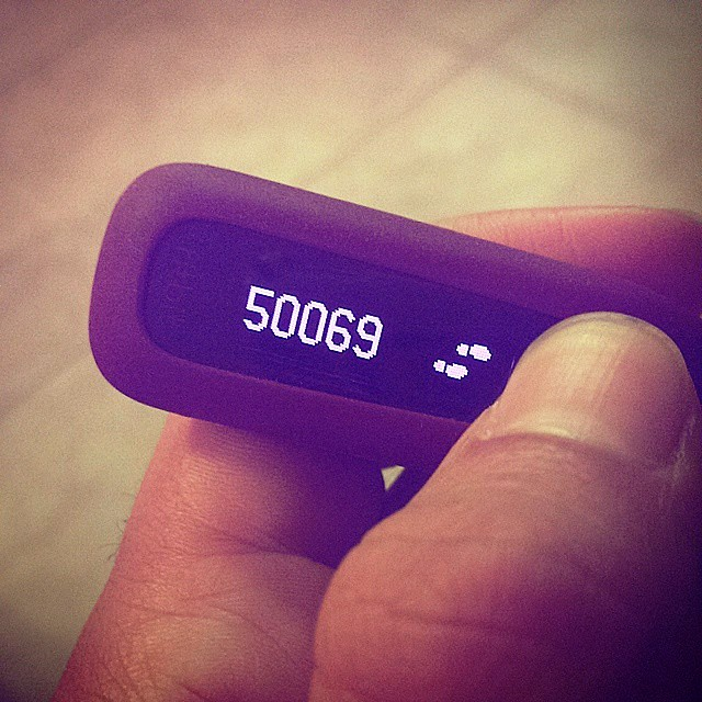 Reaching 50,000 steps on my Fitbit One