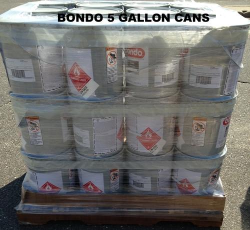 BONDO 1 GALLON AND 5 GALLON CANS