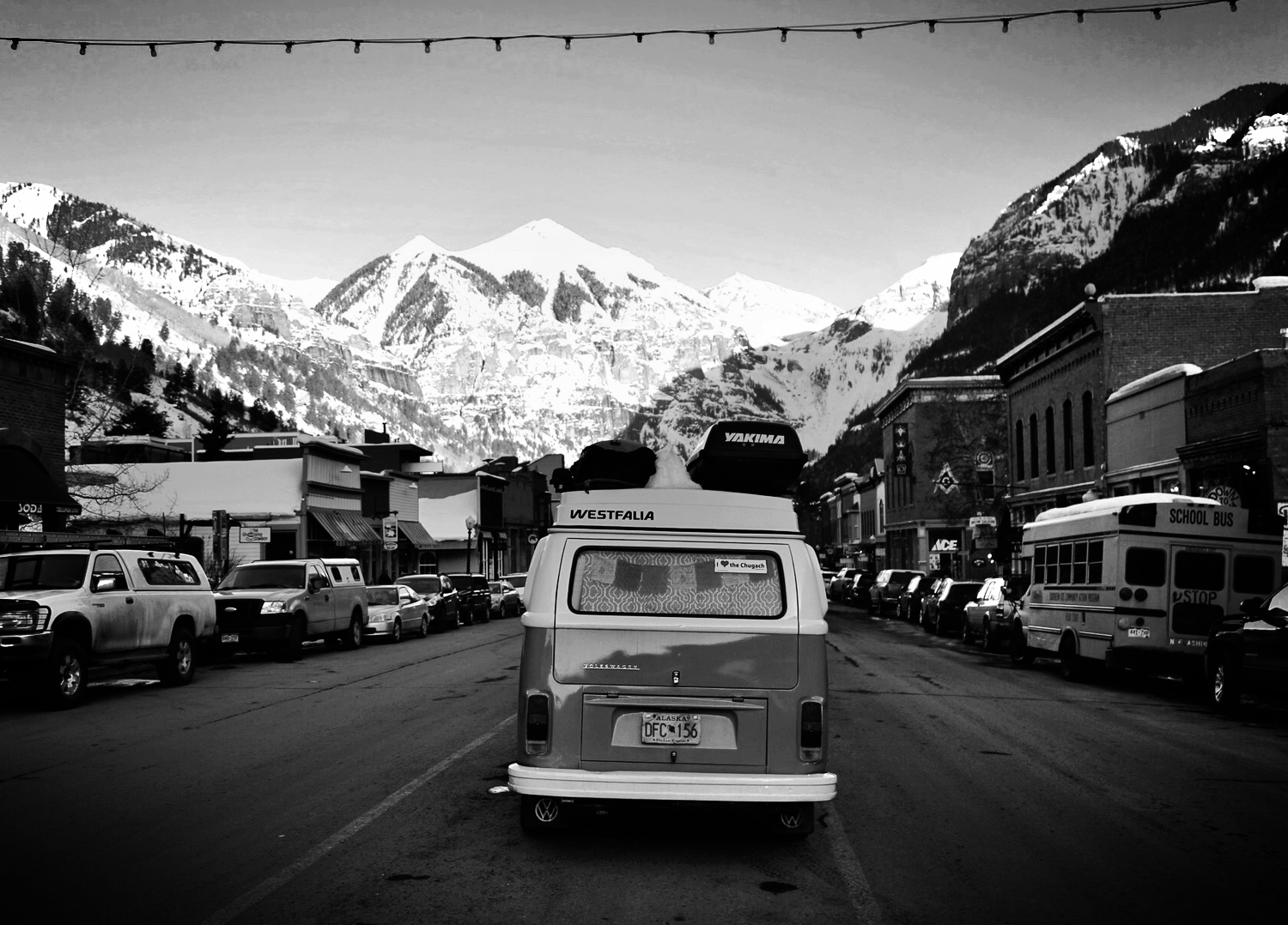The bus in downtown Telluride.