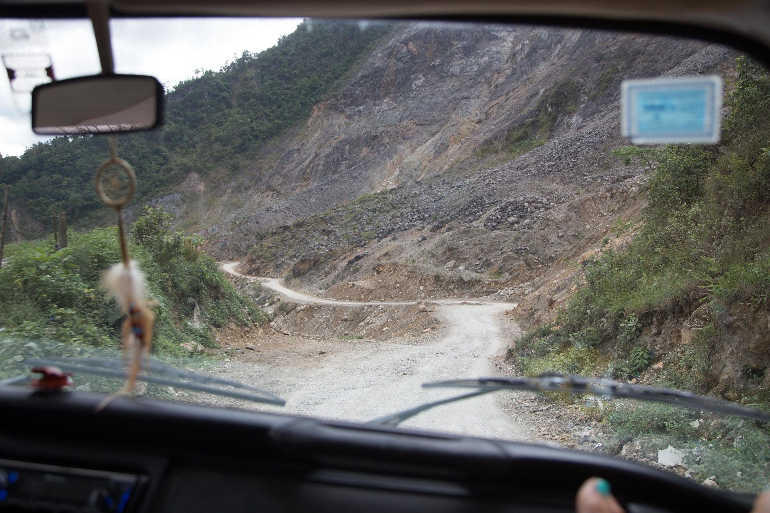 The first sign was this major landslide which wiped out the highway.