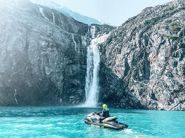 As lifetime Alaskans we are always looking for a new way to bask in the glory of our beautiful state. Mission accomplished! Jet skiing 60 miles through Prince William Sound around glacier and waterfalls was an unreal way to spend the day.