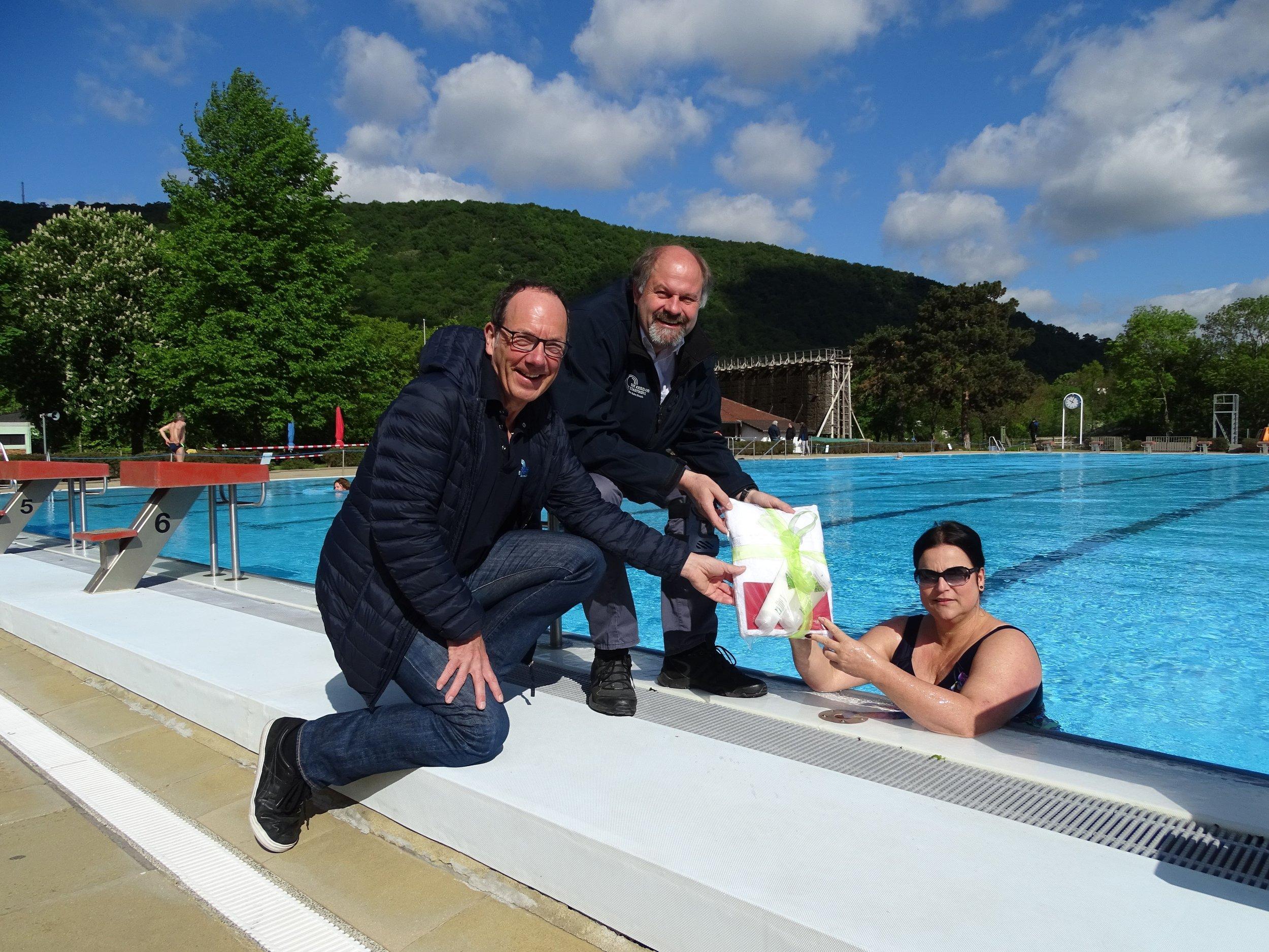 Auf dem Foto von links nach rechts: Klaus-Dieter Dreesbach, Marcus Jakob-Korsch und Anke Speth