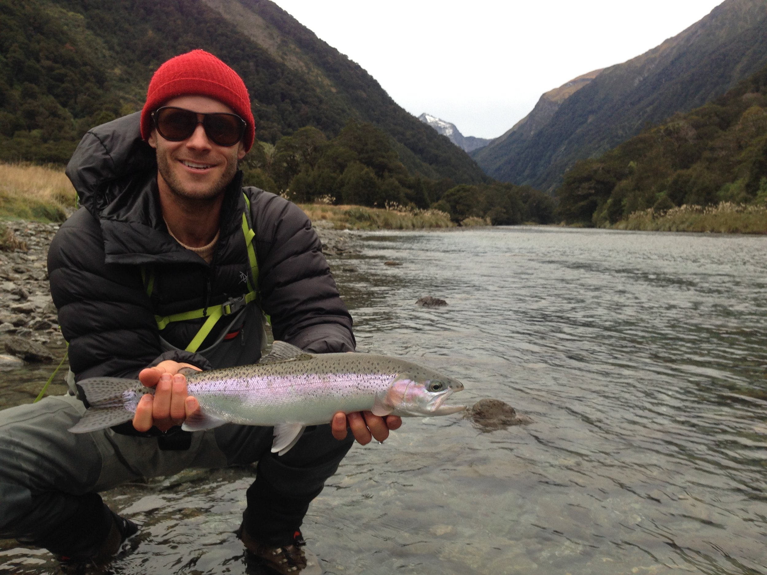 New Zealand backcountry rainbow trout