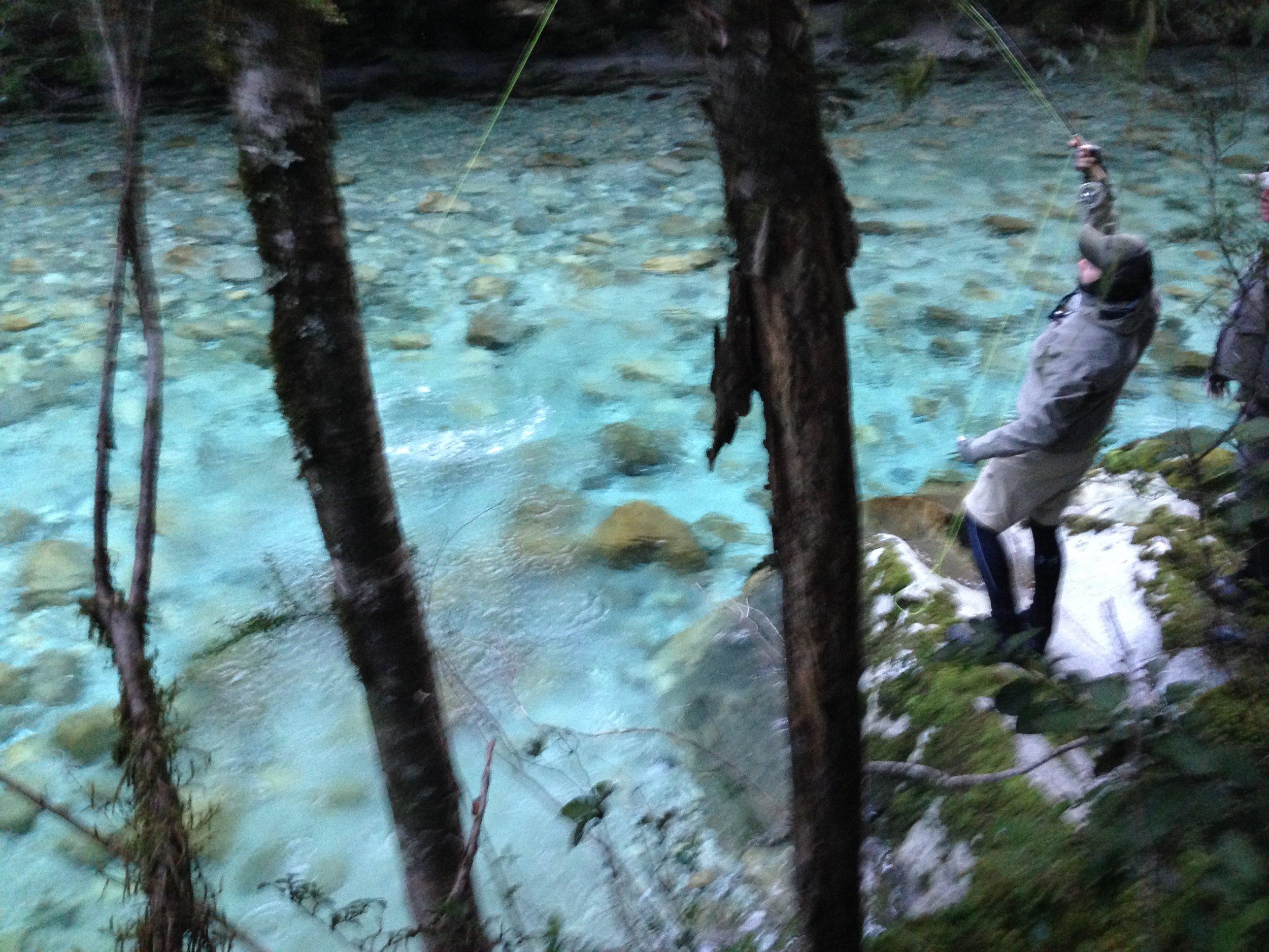 Backcountry fly fishing Fiordland New Zealand