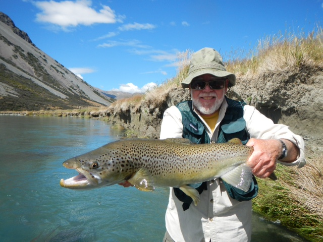 New Zealand guided brown trout fly fishing