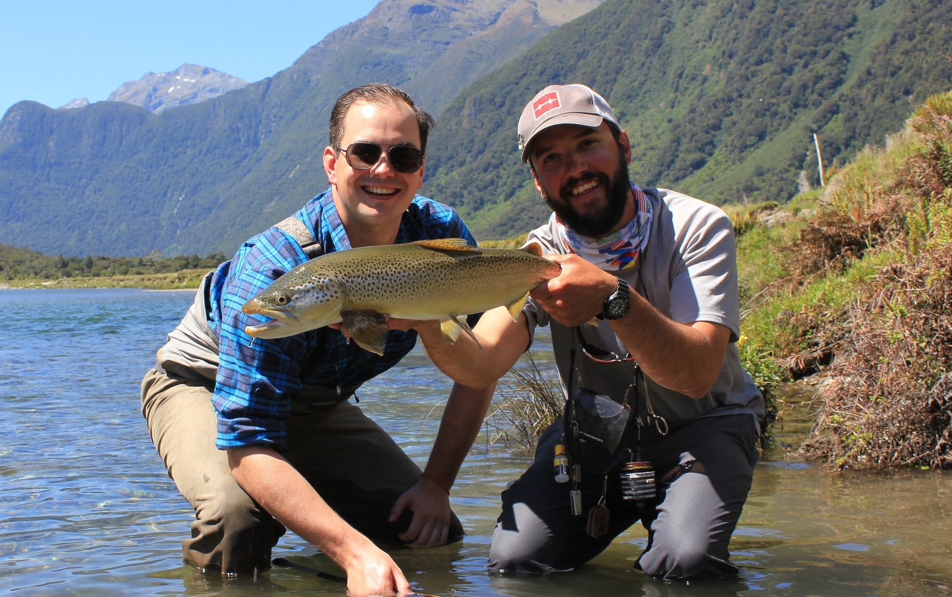 Back country fly fishing with Wanaka fly fishing guide Jeff Forsee