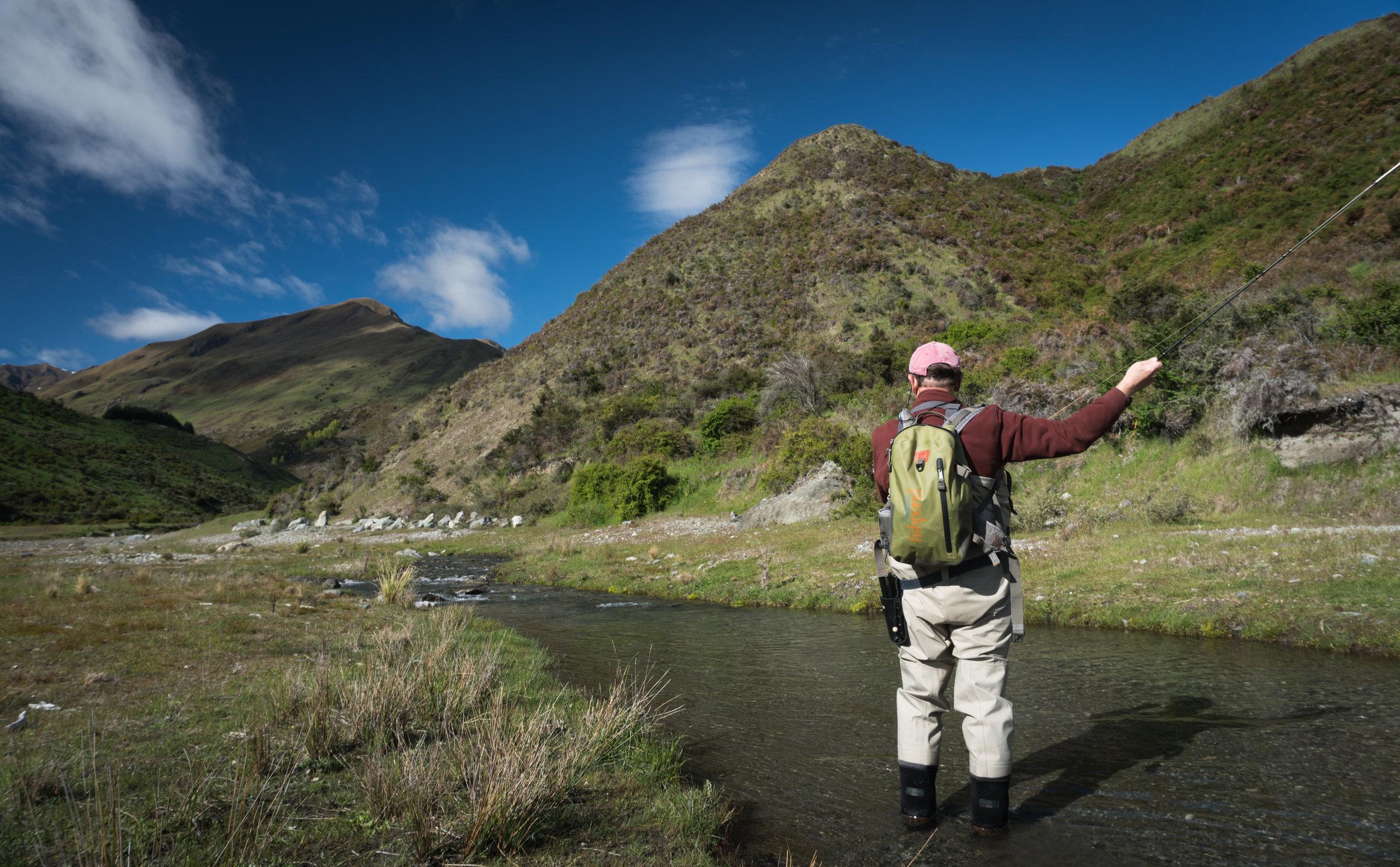 Small stream fly fishing New Zealand