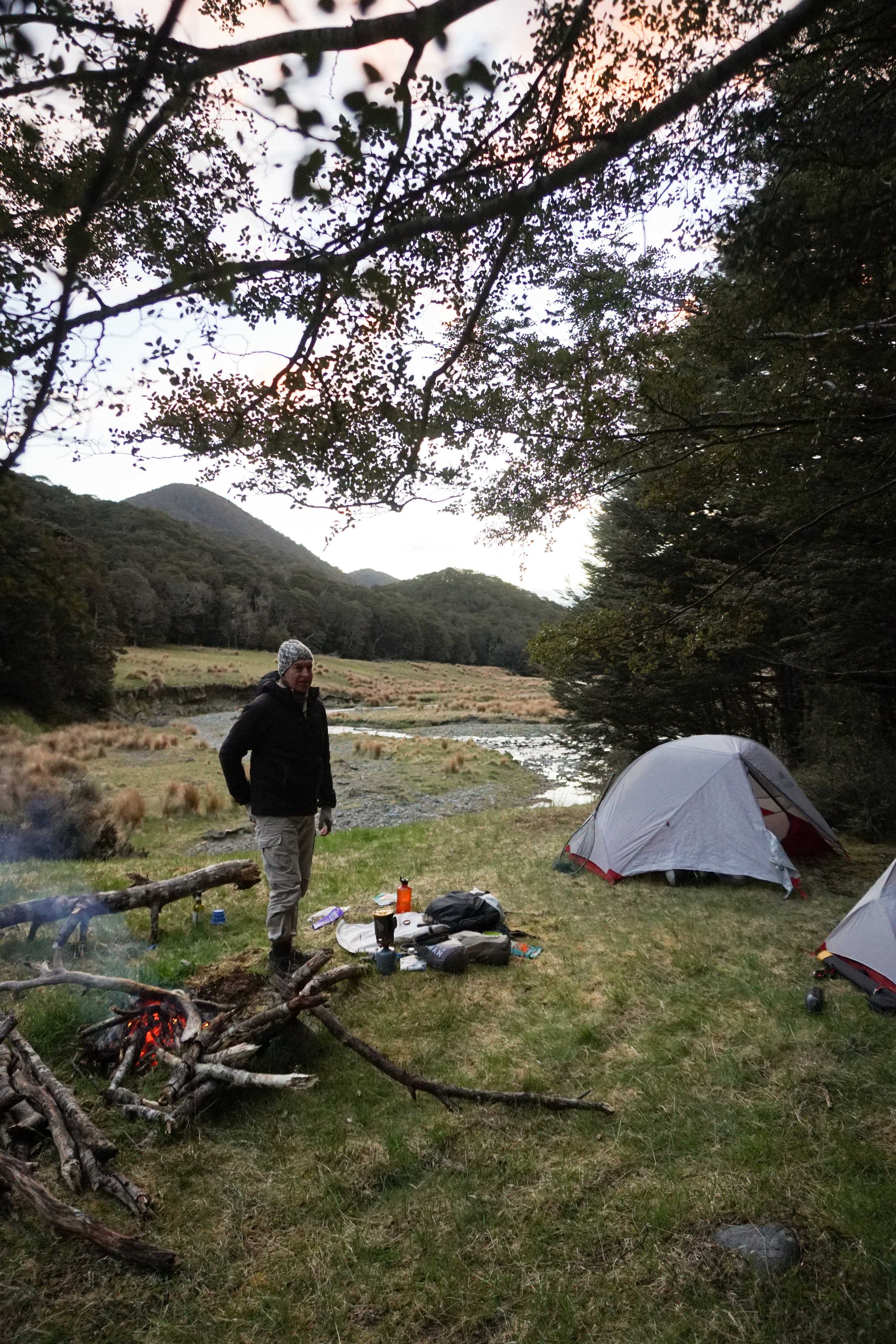 Camping and fly fishing in New Zealand backcountry