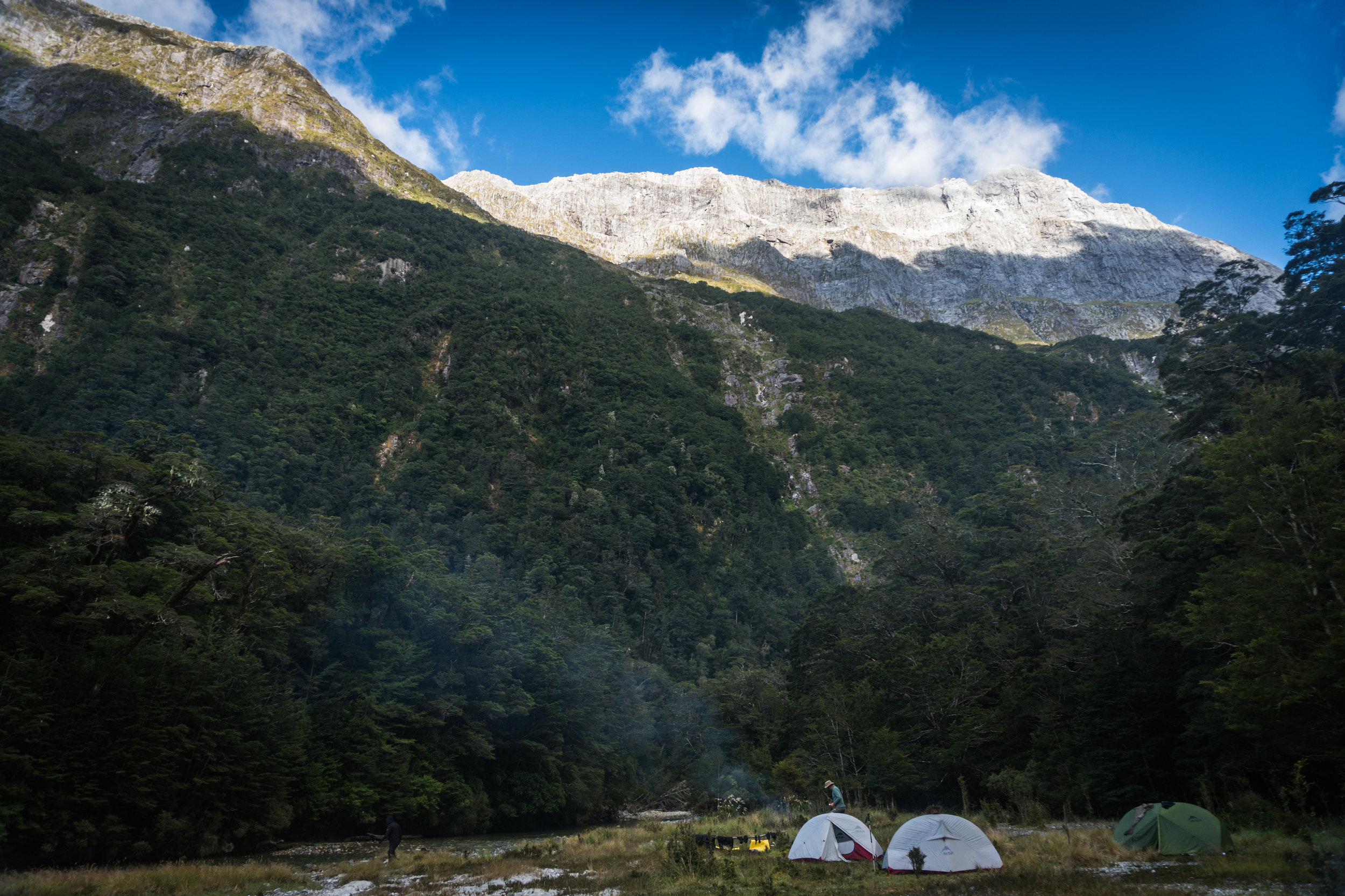 Guided backcountry fly fishing campout New Zealand