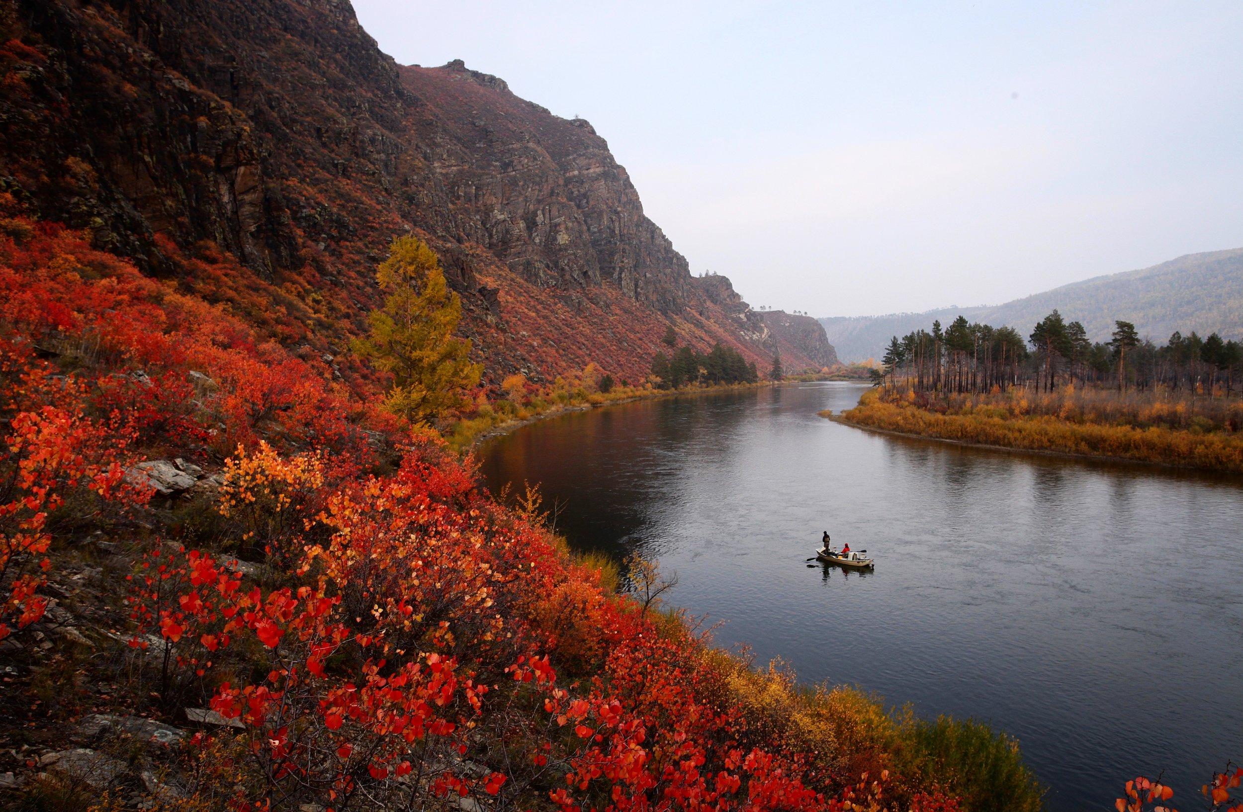 Mongolia taimen fishing float trip