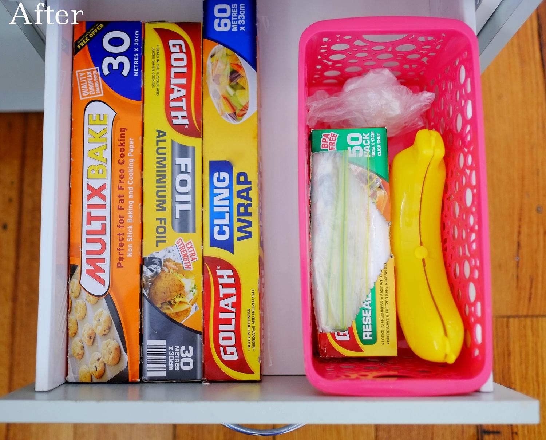 clean drawer