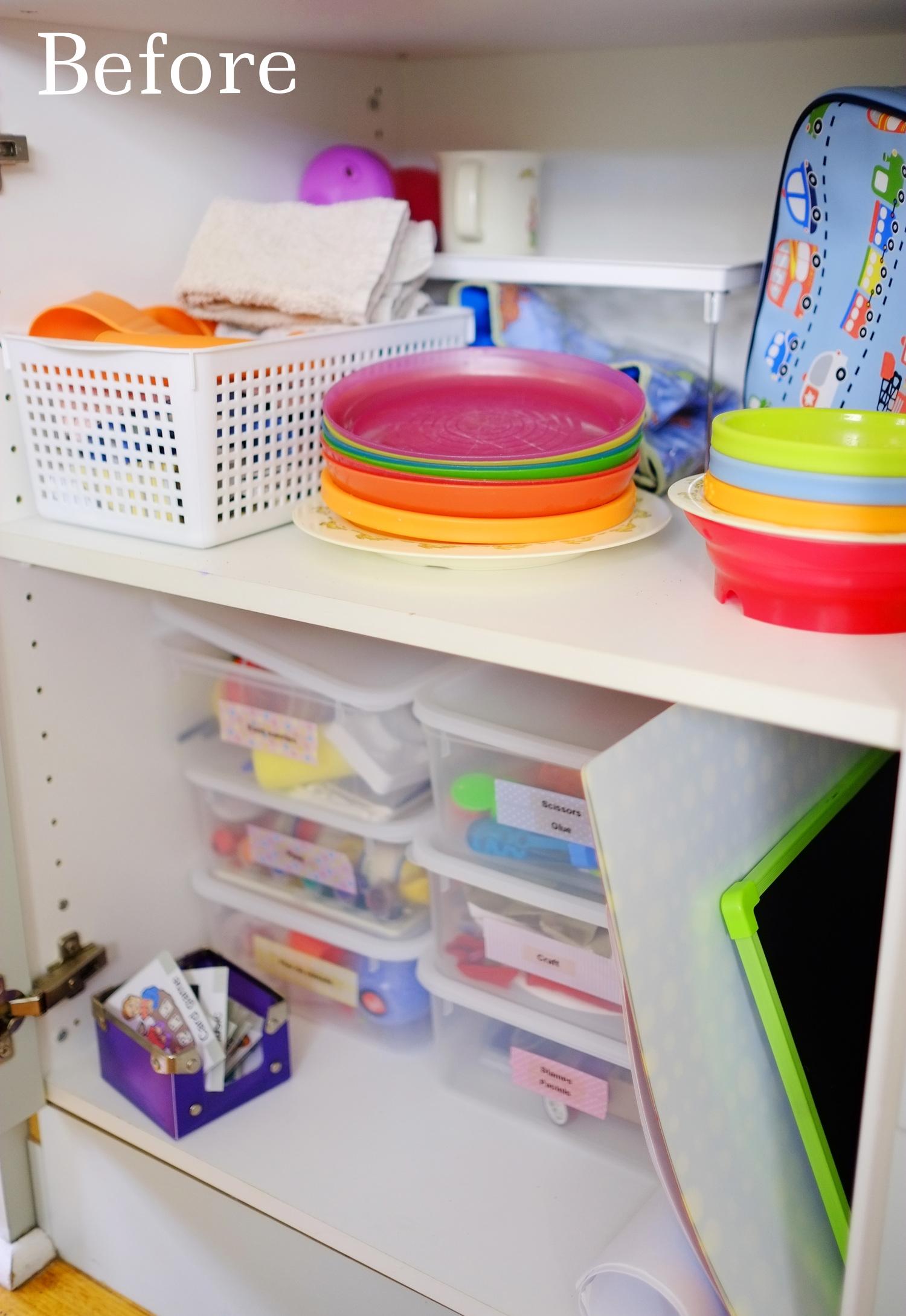 messy cupboard