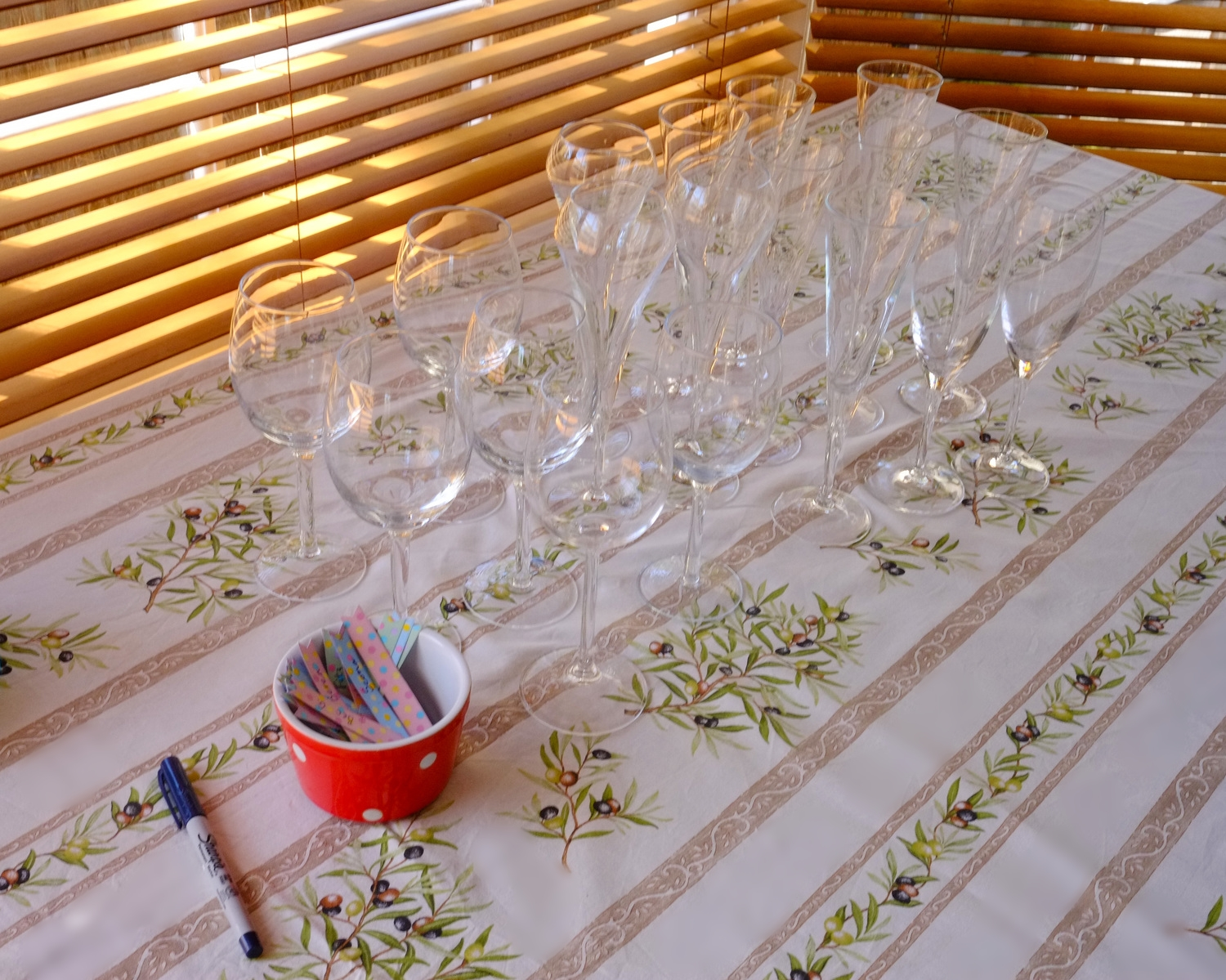 table of glasses