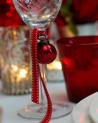 Wine glass ornament