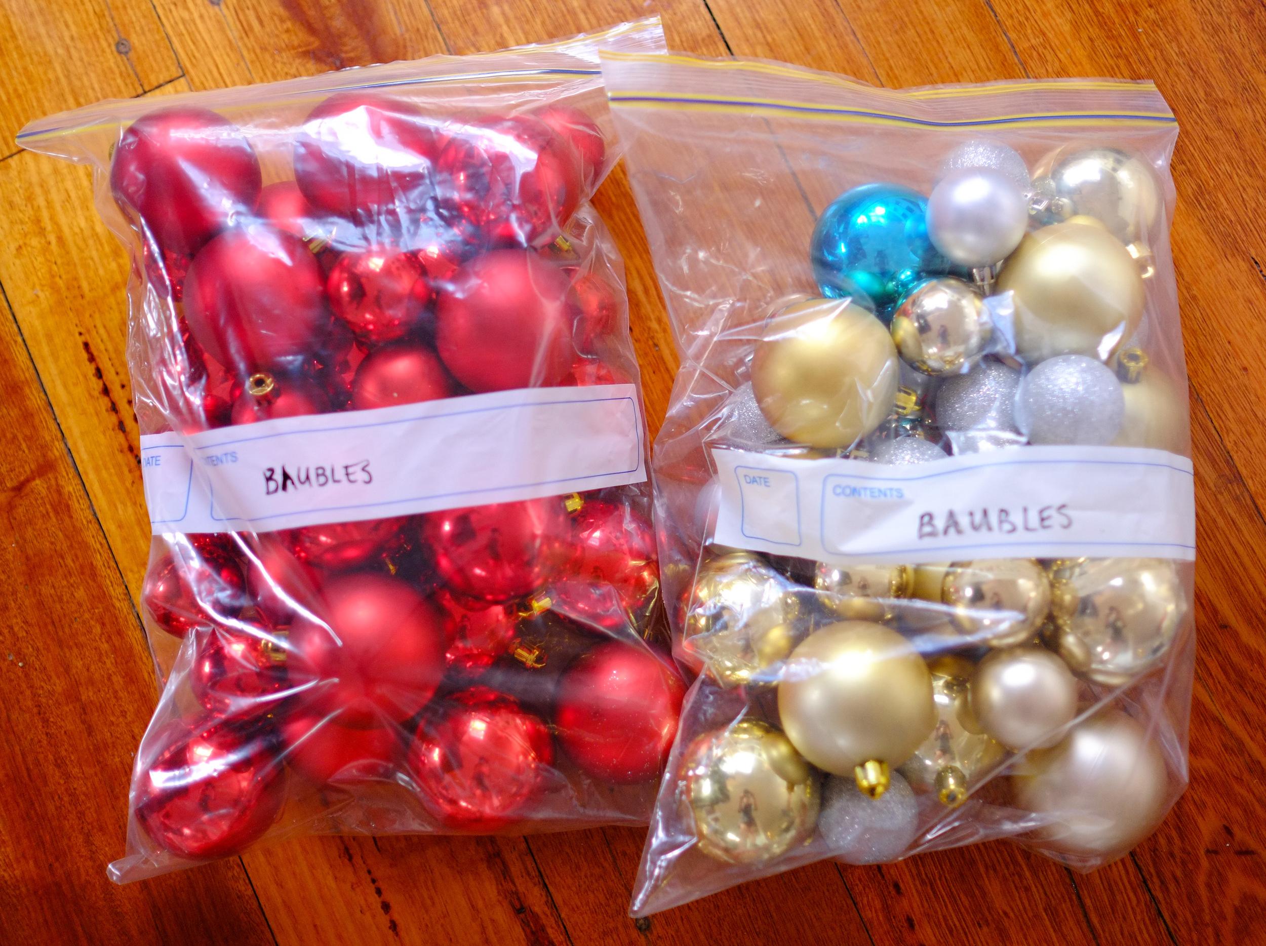 baubles organised
