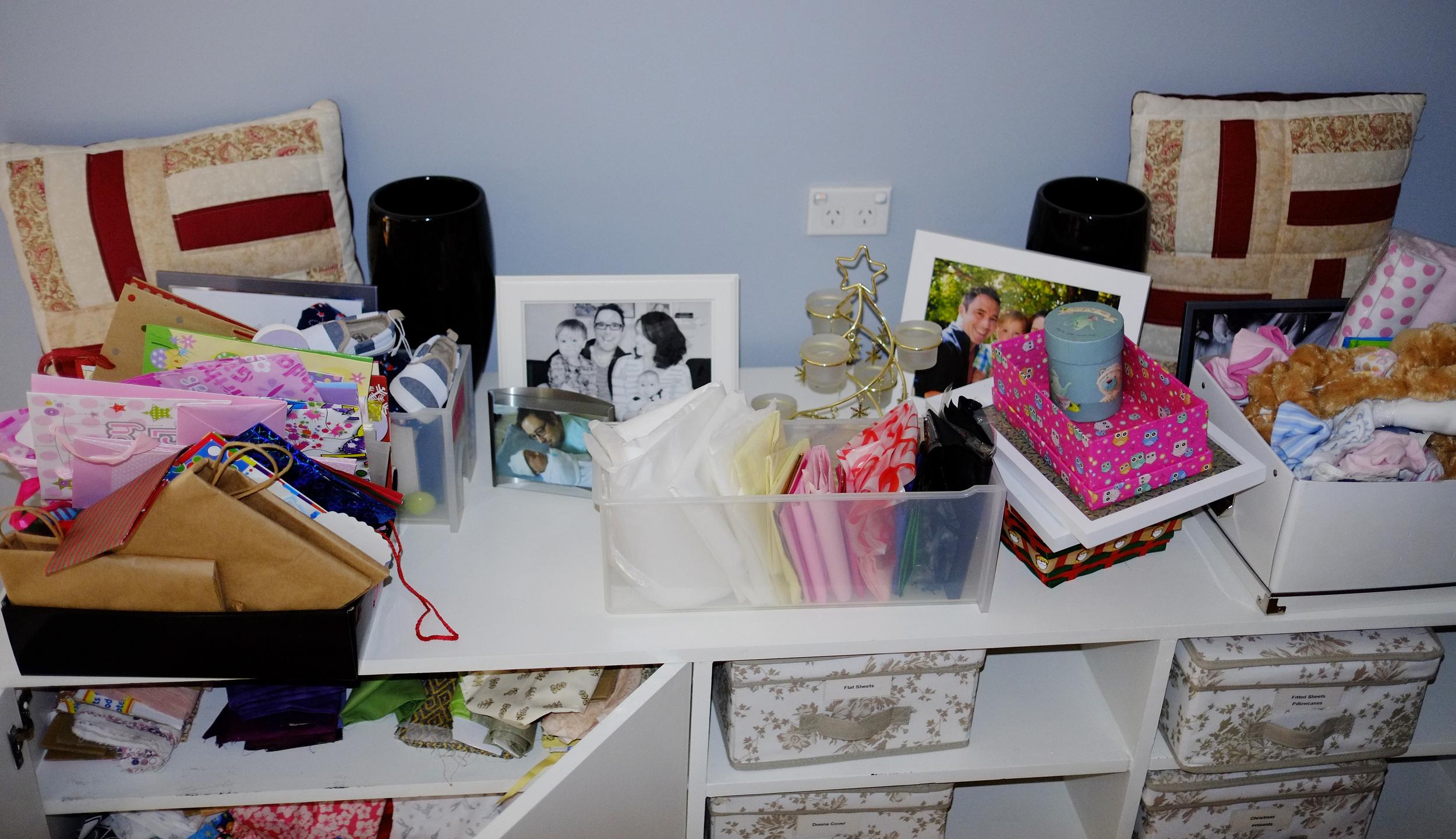 disorganised bedroom