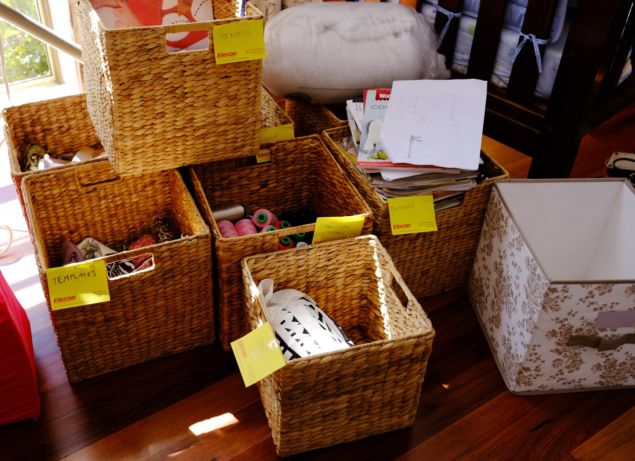 sorting baskets