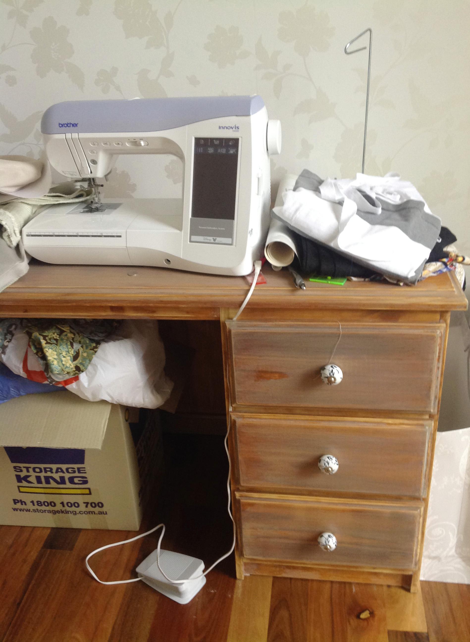 disorganised desk