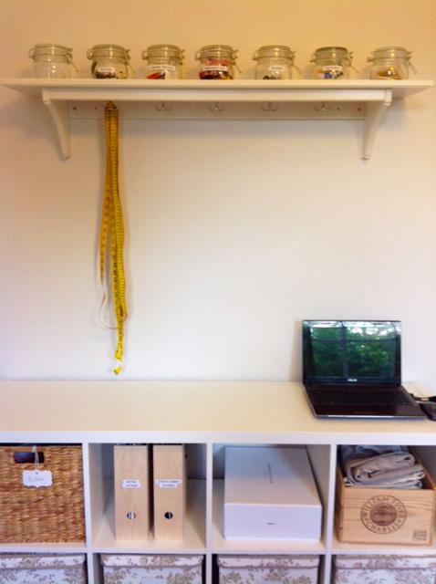 organised sewing space