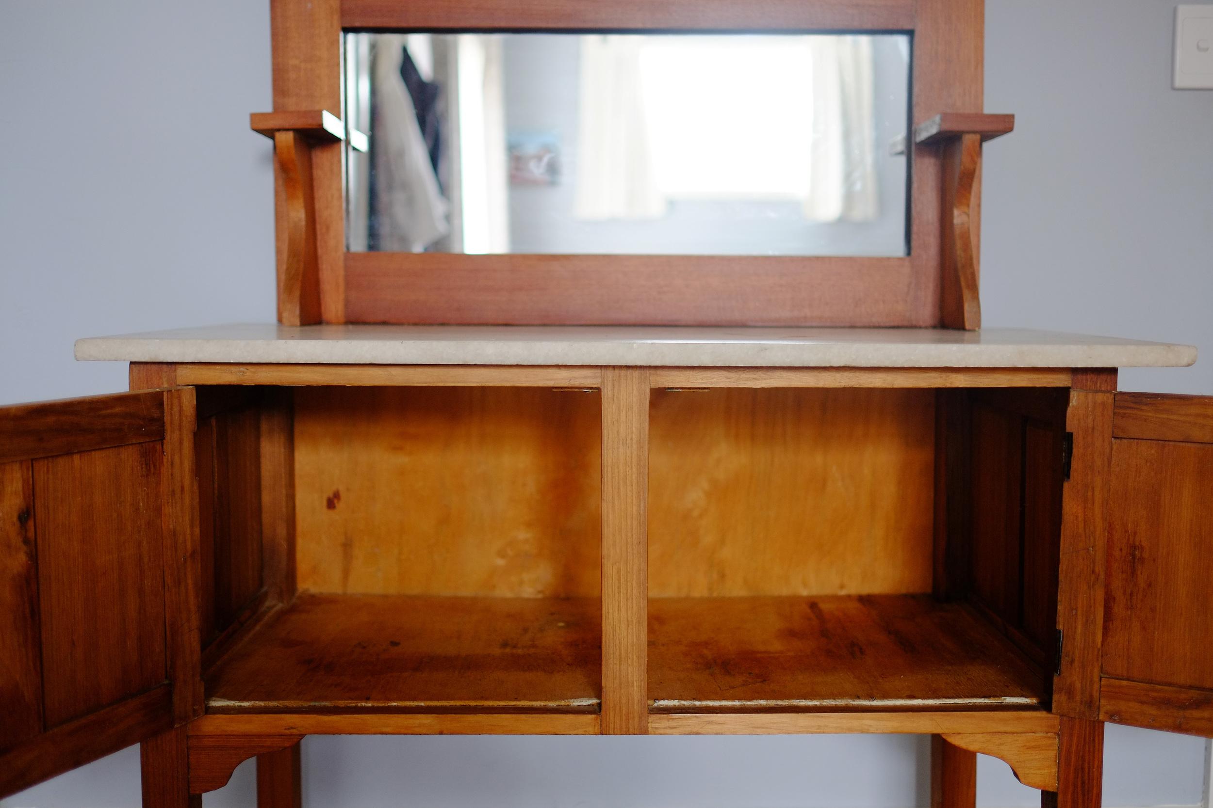 empty dresser