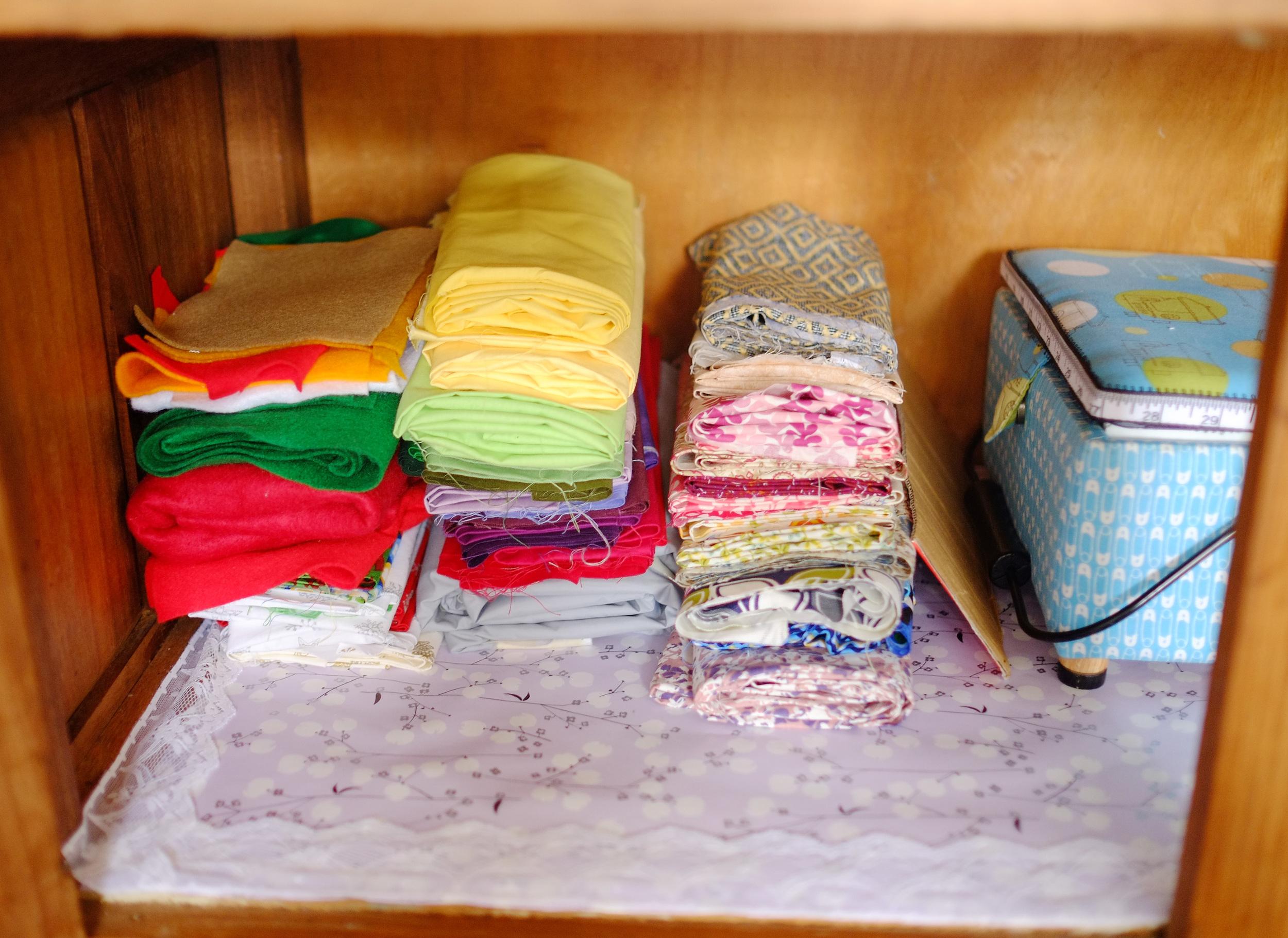 organised sewing supplies