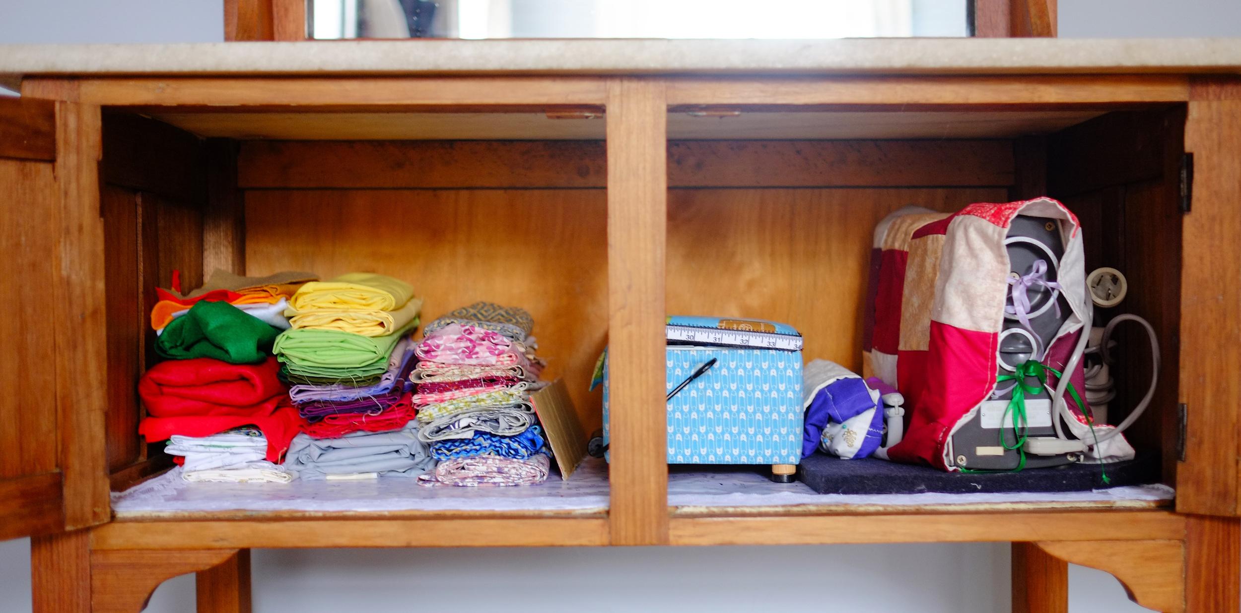 an organised dresser
